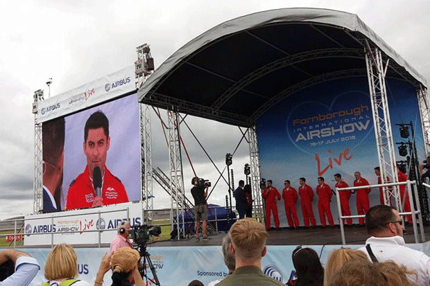 Farnborough Air SHow - Bespoke Stage